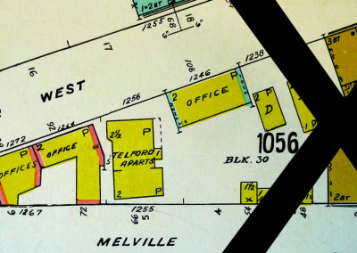 Block 1056. Bute to Jervis, Pender to Melville. Whole Block Down (11 Buildings).