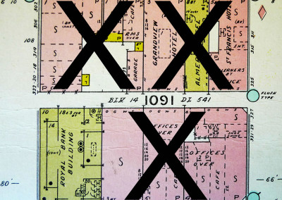 Block 1091. Seymour to Granville, Cordova to Hastings. 10 Buildings Down.