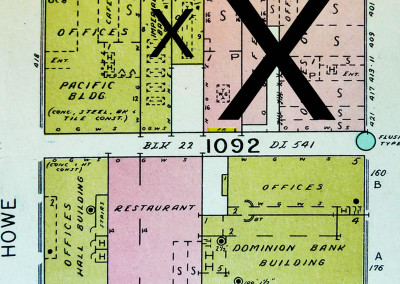 Block 1092. Granville to Howe, Hastings to Pender. 5 Buildings Down.