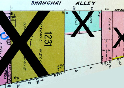 Block 1231. Carrall to Shanghai Alley, Pender to False Creek. Whole Block Down (3 Buildings).