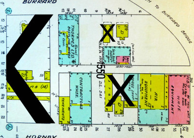 Block 1550. Hornby to Burrard, Pacific to Beach. 8 Buildings Down.